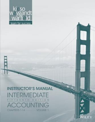instructor manual vol 1 t a intermediate accounting fifteenth rh bookdepository com Accounting Books 6-2 Intermediate Accounting