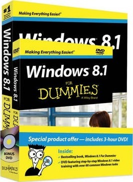 Windows 8.1 for Dummies Book+dvd Bundle