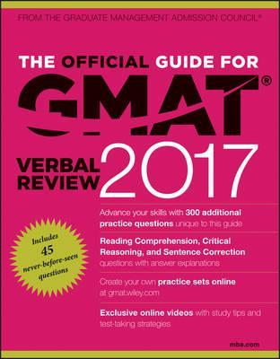 The Official Guide for GMAT Verbal Review 2017 with Online