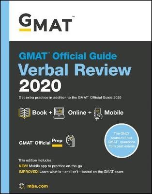 GMAT Official Guide 2020 Verbal Review : Book + Online Question Bank