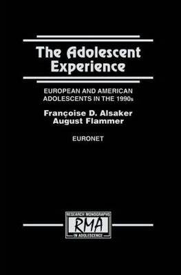 Life Values and Adolescent Mental Health (Research Monographs in Adolescence Series)