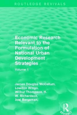 Economic Research Relevant to the Formulation of National