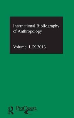 IBSS: Anthropology 2013: Vol. 59