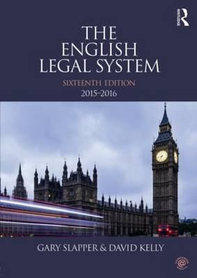 The English Legal System 2015-2016