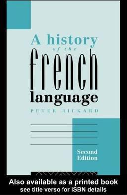 A History of the French Language