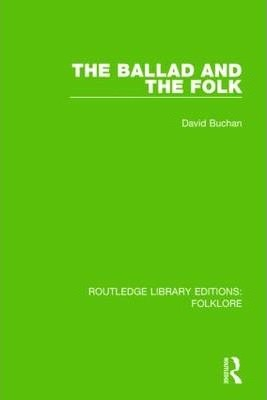 The Ballad and the Folk