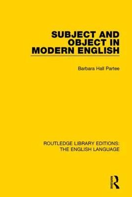 Subject and Object in Modern English