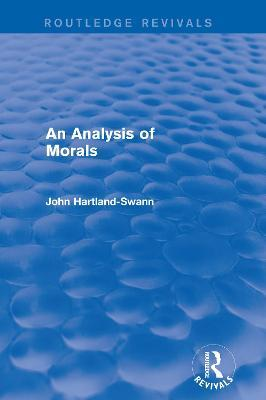 An Analysis of Morals