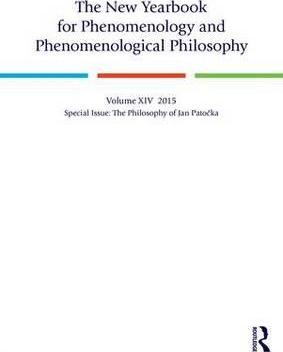 The New Yearbook for Phenomenology and Phenomenological Philosophy: Special Issue: The Philosophy of Jan Patocka Volume 14
