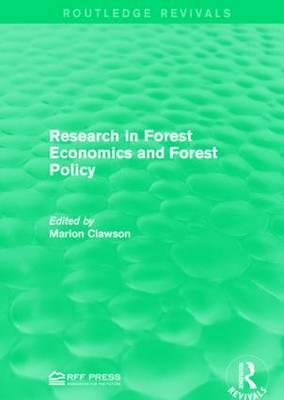 Research in Forest Economics and Forest Policy