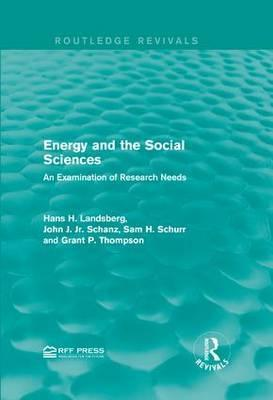 Energy and the Social Sciences