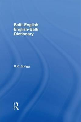 Balti-English English-Balti Dictionary