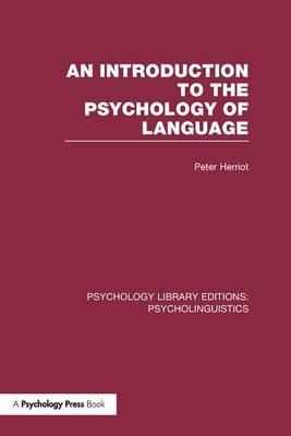 An Introduction to the Psychology of Language