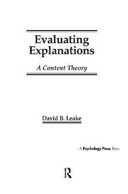 Evaluating Explanations