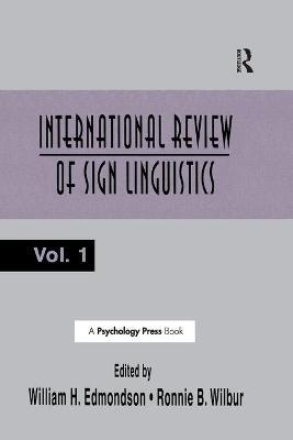 International Review of Sign Linguistics: Volume 1