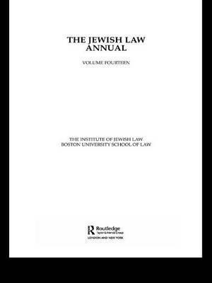 The Jewish Law Annual: Volume 14