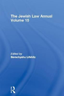 The Jewish Law Annual Volume 15