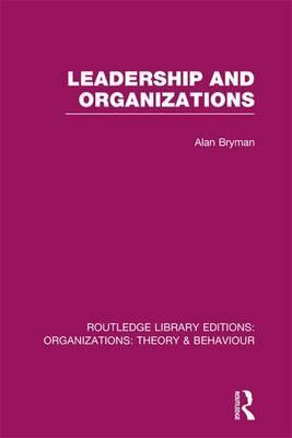 Leadership and Organizations