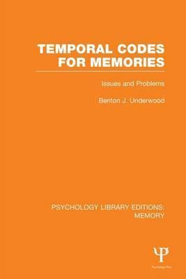 Temporal Codes for Memories