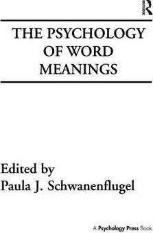 The Psychology of Word Meanings
