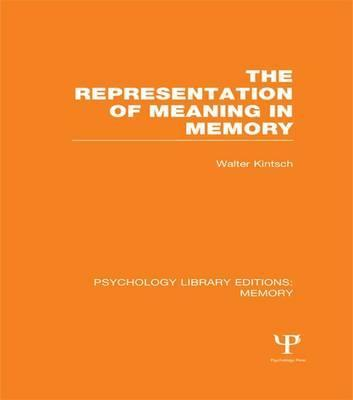 The Representation of Meaning in Memory