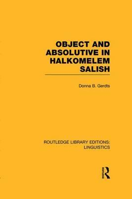Object and Absolutive in Halkomelem Salish