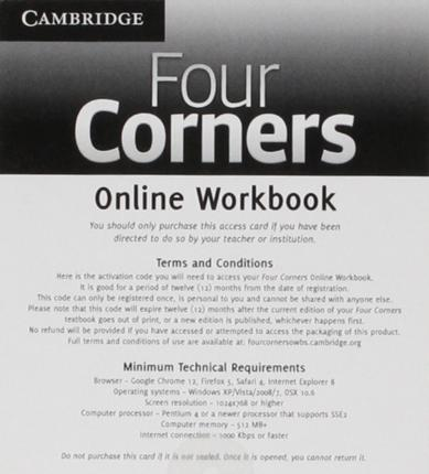 Four Corners Level 2 Online Workbook A (Standalone for Students)