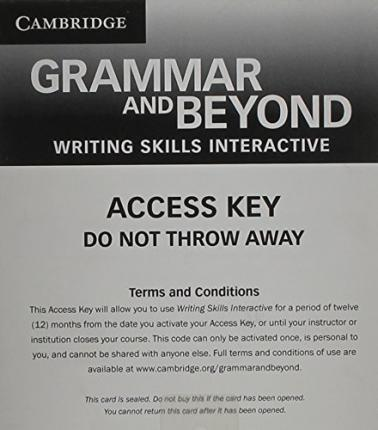 Grammar and Beyond Level 2 Writing Skills Interactive for Blackboard via Activation Code Card