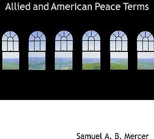 Allied and American Peace Terms
