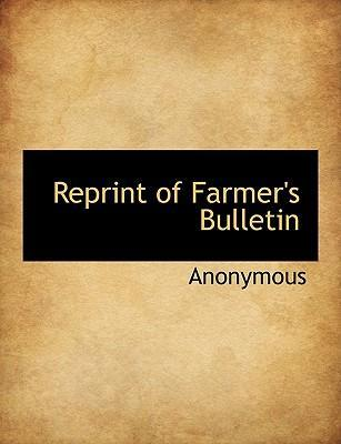 Reprint of Farmer's Bulletin