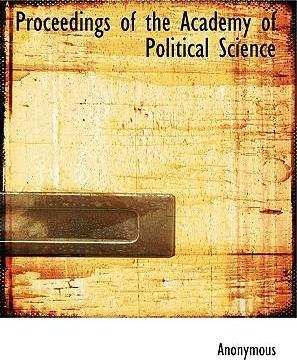 Proceedings of the Academy of Political Science