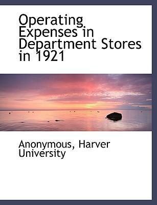 Operating Expenses in Department Stores in 1921