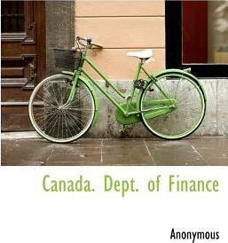 Canada. Dept. of Finance