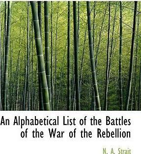 An Alphabetical List of the Battles of the War of the Rebellion