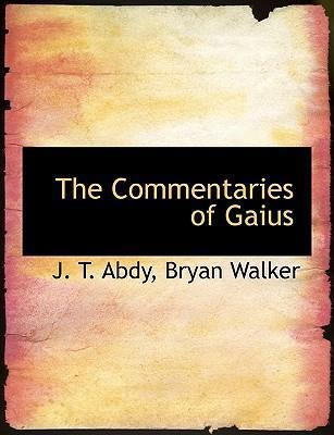 The Commentaries of Gaius