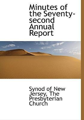Minutes of the Seventy-Second Annual Report