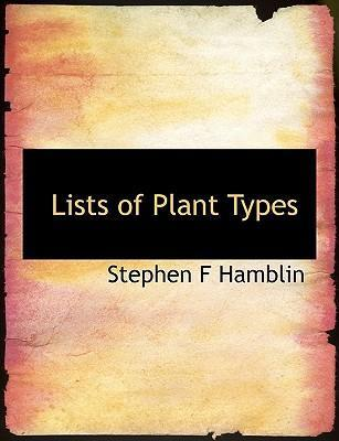 Lists of Plant Types