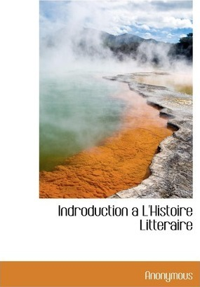 Indroduction A L'Histoire Litteraire