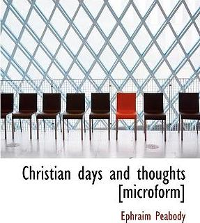 Christian Days and Thoughts [Microform]