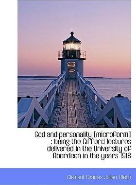 God and Personality [Microform]