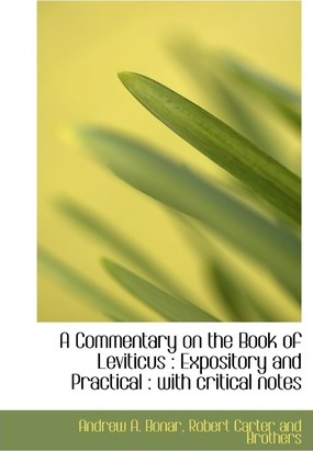 A Commentary on the Book of Leviticus