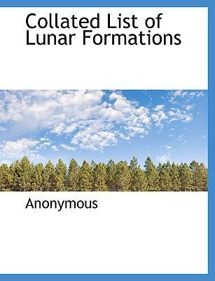 Collated List of Lunar Formations