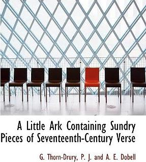 A Little Ark Containing Sundry Pieces of Seventeenth-Century Verse