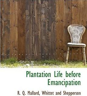 Plantation Life Before Emancipation