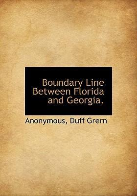 Boundary Line Between Florida and Georgia.