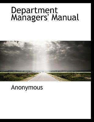 Department Managers' Manual