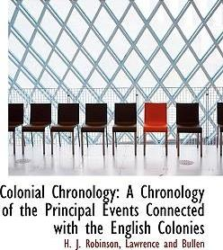Colonial Chronology