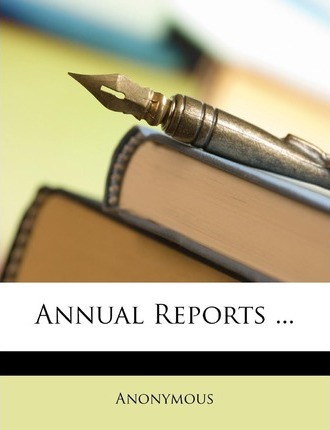 Annual Reports ... Cover Image