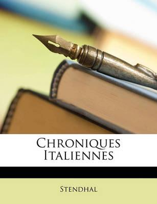 Chroniques Italiennes Cover Image
