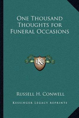 One Thousand Thoughts for Funeral Occasions : Russell Herman